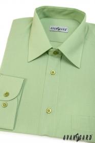 Męska klasyczna koszula z długim rękawem, kolor zielony