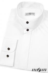 Biała koszula męska ze stójką na guziki