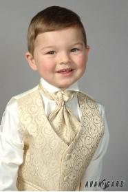 Chłopięca koszula smokingowa w kremowym kolorze