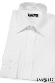 Klasyczna koszula męska z zakrytą klapą Biała
