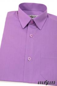 Klasyczna koszula dla chłopca w kolorze fioletowym