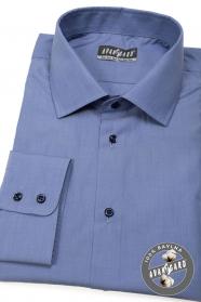Niebieska koszula męska 100% bawełna