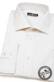 Kremowa koszula męska 100% bawełna
