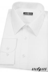 Biała koszula męska z długim rękawem