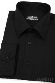 Czarna koszula męska Avantgard z długim rękawem