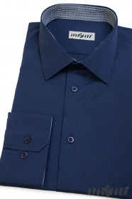 Niebieska koszula męska z długim rękawem Avantgard
