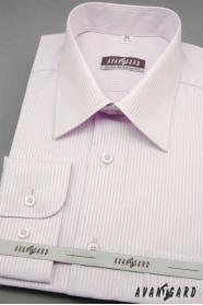 Męska liliowa koszula z delikatnym paskiem