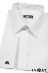 Biała koszula na spinki do mankietów