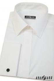 Koszula męska w kremowym kolorze na spinki