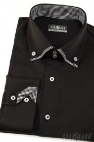 Koszula męska z długim rękawem czarna