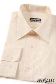 Kremowa koszula męska w delikatne paski