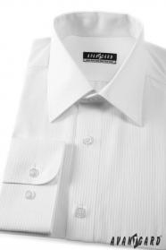 Biała koszula ślubna klasyczna, długi rękaw