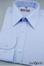 Klasyczna niebieska koszula męska 80% bawełna