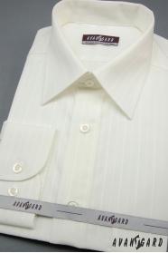 Męska ślubna koszula kremowa z szerokim paskiem
