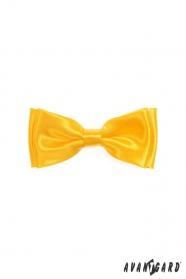 Charakterystyczna muszka dla chłopca w kolorze żółtym