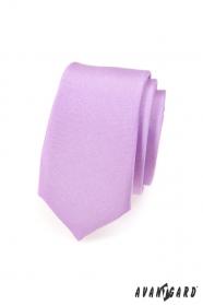 Jasnofioletowy wąski krawat
