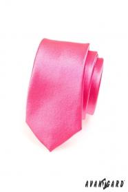 Wąski różowy krawat w kolorze fuksji