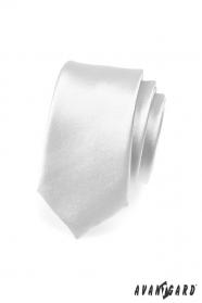 Srebrny wąski krawat