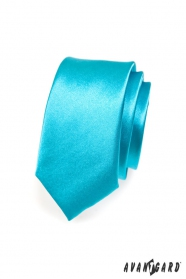 Wąski turkusowy krawat