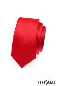 Czerwony wąski krawat