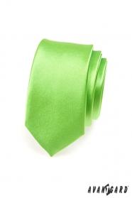 Wąski krawat SLIM zielony wysoki połysk