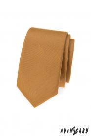 Wąski beżowy krawat Avantgard