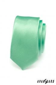 Zielony wąski krawat gładki