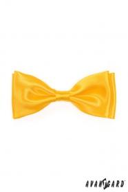 Muszka męska błyszcząca żółta
