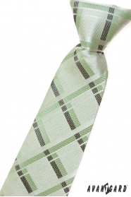 Zielony krawat dla chłopca w paski