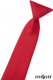Matowy czerwony krawat dla chłopca
