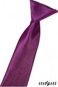 Krawat chłopięcy Aubergine