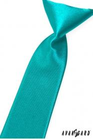 Turkusowy krawat chłopięcy