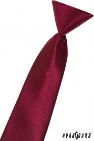 Krawat chłopięcy w kolorze bordowym