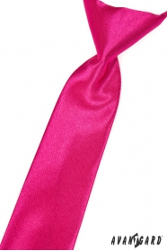 Krawat chłopięcy w błyszczącym kolorze fuksji