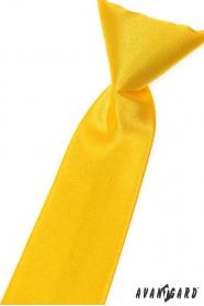 Żółty krawat chłopięcy