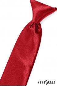 Czerwony krawat chłopięcy na gumce