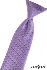 Fioletowy krawat dla chłopca o strukturalnej powierzchni