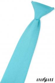 Turkusowy matowy krawat dla chłopca