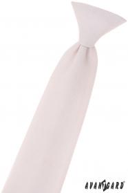 Krawat chłopięcy w różowym proszku