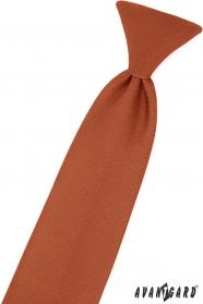 Brązowy krawat dla chłopca