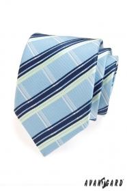 Krawat męski w biało-niebieskie paski