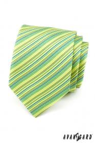 Jasnozielony krawat w paski