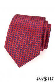 Czerwony krawat niebieski wzór