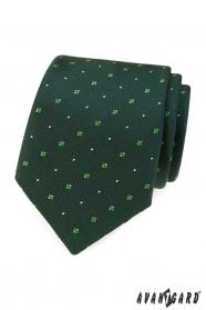 Zielony krawat z wzorem