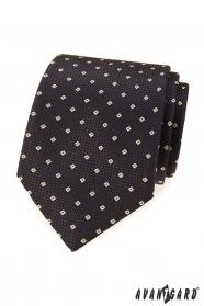 Brązowy krawat z wzorem