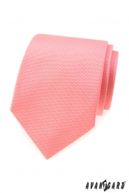 Strukturyzowany krawat w kolorze łososia