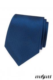 Niebieski krawat w pikowany wzór