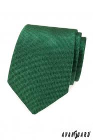 Zielony krawat męski ze strukturą