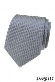 Szary krawat ze strukturą