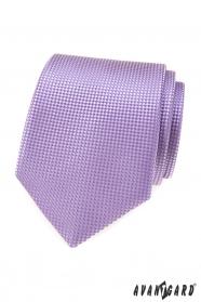 Krawat męski w kolorze liliowym